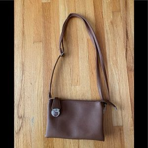 New Never Used Brown Purse   Crossbody or Shoulder